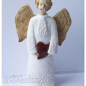 anioł skarbonka, anioł, serce