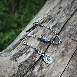 labradoryt na łańcuszku, labradoryt, błyszcząca biżuteria, kamienie naturalne