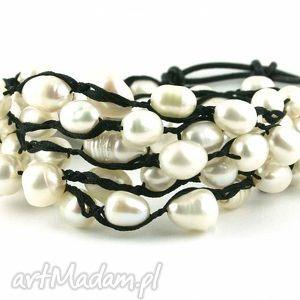 Snake Wrap: Perły hodowlane, perły, słodkowodne, elegancka, romantyczna
