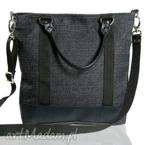 Opis Tote Classic Black Czarny Harry , torba, szara, czarna