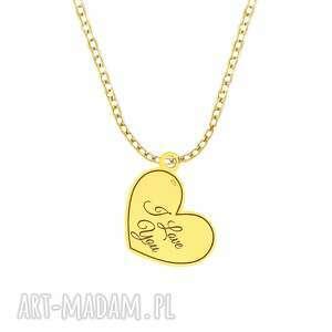 celebrate - i love you necklace g, serce, love, święta, łańcuszek, celebrytka