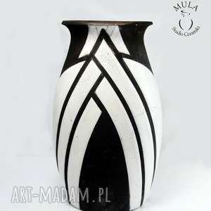 wazon raku kratownica, raku, wazon, ceramika, ceramika artystyczna, krakle, prezent