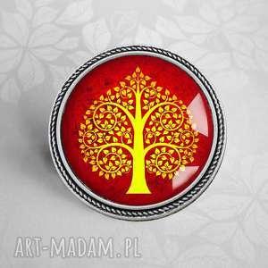 BROSZKA DRZEWO SERC, drzewko, drzewem, serca, modna, przypinka, stylowe