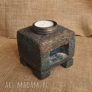 świeczniki świecznik z betonu, loft, industrialny /3/, świecznik, betonowy