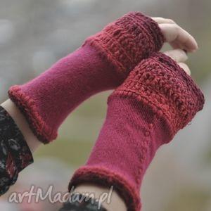 rękawiczki mitenki - rękawiczki, mitenki, włóczkowe