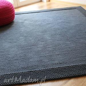 dywan quattro dark grey, dywan, chodnik, dywanik, handmade, sznurek dom