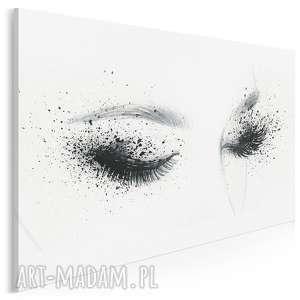 obraz na płótnie - kobieta oczy 120x80 cm (55801)