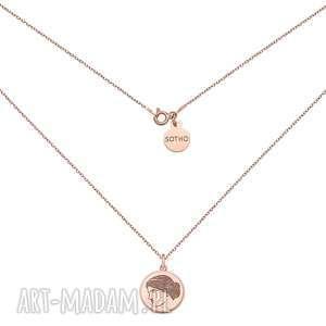 sotho medalion z różowego złota z boginią venus - pozłacany