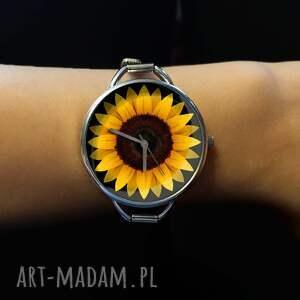 zegarek damski słonecznik, zegarek-damski, zegarek, prezent-dla-kobiety