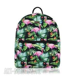 PLECAK DAMSKI 1156 FLAMINGI , flamingo, szkoła, plecak, kolorowy, lato