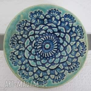 koronkowy talerzyk, z-koronką, ceramika, ceramiczny, fusetka, koronkowa