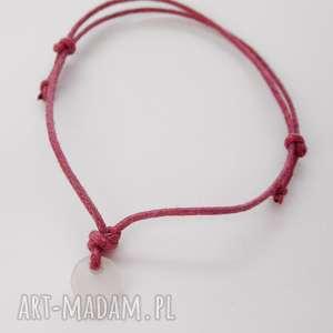 OKRĄG bransoletka, tworzywo, sznurek, zmatowione