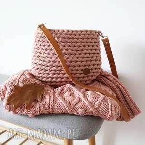 Pleciona torebka z grubego bawełnianego sznurka torebki pule