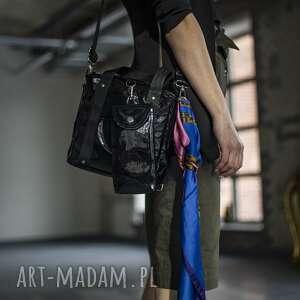 plecak/torebka 2w1 black glam z saszetką, plecak 2w1, torebka
