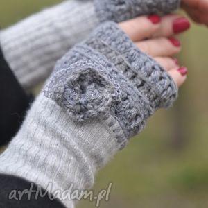 rękawiczki mitenki - rękawiczki, mitenki, rękodzieło, włóczkowe