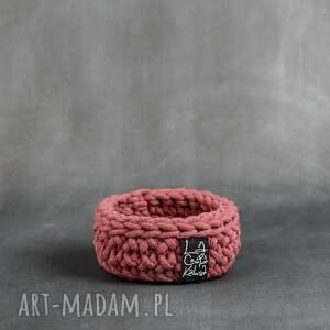 laczapakabra koszyk niski xs - brudny różowy, koszyk, koszyczek, dekoracje