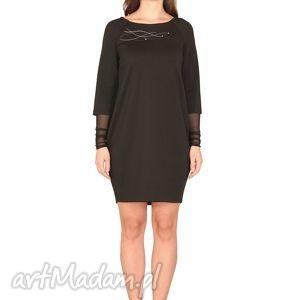 sukienka zazou, elastyczna, elegancka, wygodna, haft, raglan, tiul