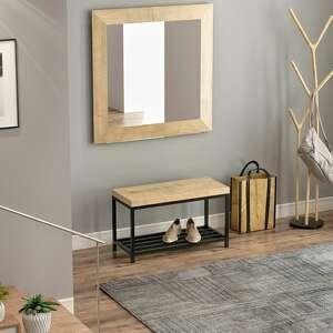 hand-made dębowa ławka z półką na buty, siedzisko elsa, do salonu, przedpokoju, sypialni