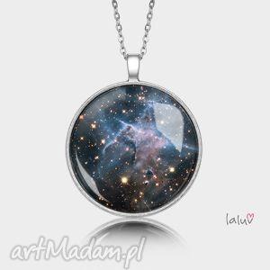 medalion okrągły mystic mountain - nebula, gwiazdy, kosmos, wszechświat