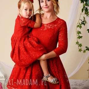 komplet sukienek julia dla mamy i córki, koronkowe, sukienki