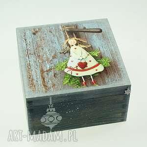 shiraja szkatułka drewniana - anioł, pudełko, drewniane, boże, narodzenie