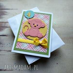 Urodzinowo-małpkowo kartki cynamonowe urodziny dziecka, balon