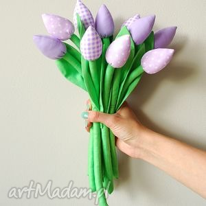 bukiet bawełnianych tulipanów, tulipany, bawełniane, kwiaty, kwiatki, szyte