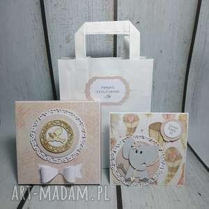 scrapbooking kartki zestaw słonik w piórach, słonik, balonik, chrzest, narodziny