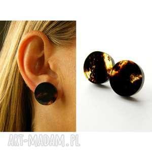 kolczyki bursztynowe dropsy czarne - bursztyn, bursztyny, kolczyki, elegancki, srebro