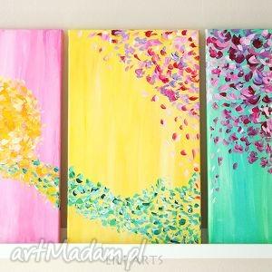 obraz - nadzieja akryl na płótnie, tryptyk, obraz, akryl, malowany