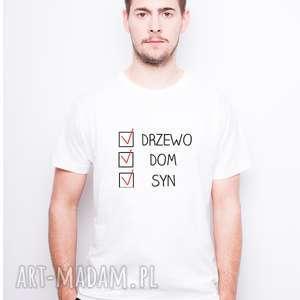 koszulka męska drzewo dom syn, dlataty, dlaniego, dzientaty, dzienojca