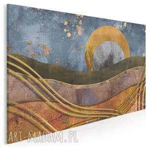 obrazy obraz na płótnie - abstrakcja złoto - 120x80 cm (64501)