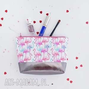 kosmetyczka flamingi - ,kosmetyczka,flamingi,pastelowa,słodka,oragnizer,saszetka,