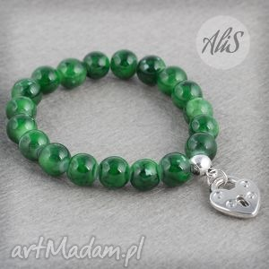 Serce kłódka - ,zielona,kłódka,serce,gumka,zawieszka,