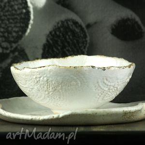 lace white 1 zestaw naczyń, talerz, miska, misa, naczynia, zestaw, obiad dom