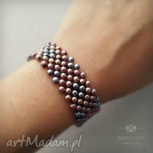 bransoletka z perełek nr2, perełki, perły, szkło, koraliki