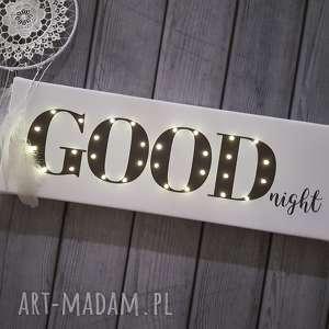 napis led good night dobranoc lampa obraz prezent dla niej dekoracja