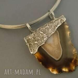 zawieszka z agatem, naturalnie, kamienie naturalne, agat