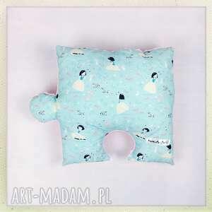 Poduszka puzzel Śnieżka z minky roz, poduszka, minky,