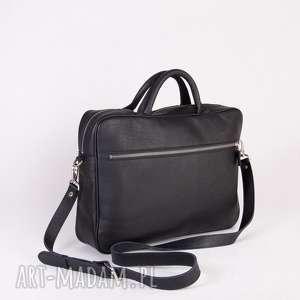 Skórzana torba na laptopa crosna laptopa, torba, ramię,