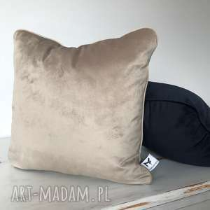 Poduszka Velvet Cappuccino, poduszki, welwet, aksamit, kedra