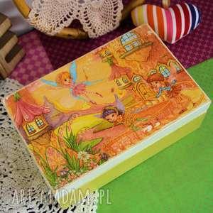 pokoik dziecka pudełko dziecięce z wróżkami, pudełko, wróżka, elf, dziewczynka