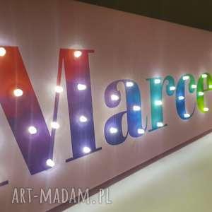 napis led imię neon twoje słowo prezent tęczowy obraz lampa personalizowany