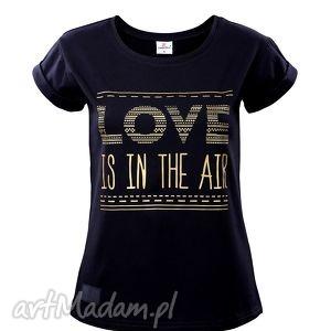 t-shirt love rozmiar m, koszulka, tshirt, nadruk, bawełna, farbotka, elegancka