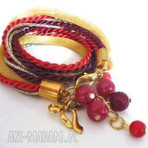 świąteczny prezent, red pleasure, sznurek, lina, zawieszki, kamienie