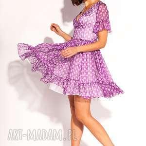 sukienka lola, poprawiny, wesele, jedwabna, wzorki, lekka, romantyczna