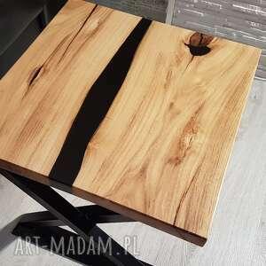 ręcznie zrobione stoły stolik kawowy z akacji, żywica - rzeka