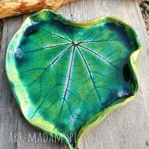 patera ceramiczna liść malwy c47, serce, malwa, liść, ceramiczna, ceramika