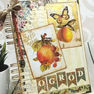 Notatnik-w moim ogrodzie scrapbooking notesy shiraja notes