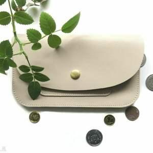 portmonetka skórzana z zatrzaskiem, portfel, damska, skóra, portmonetka, prezent